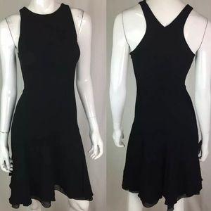 Emporio Armani Silk Sleeveless Fit & Flare Dress